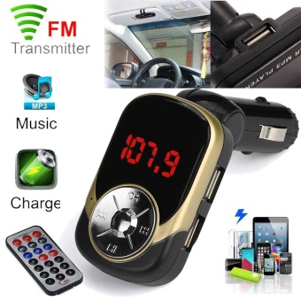 MP3 Player Wireless FM Transmitter Modulator Mobil Kit USB SD TF MMC LCD Remote-Intl