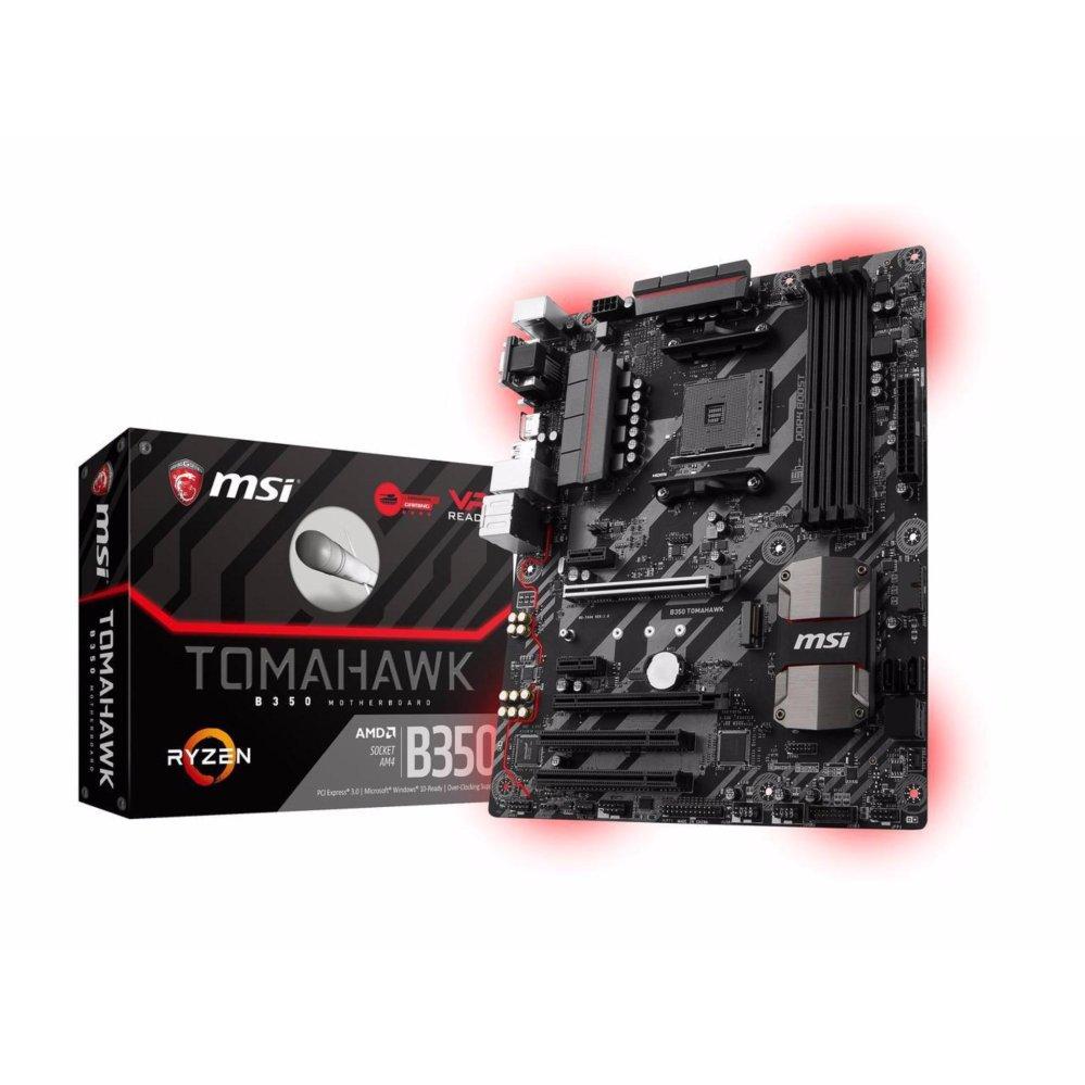 Harga Termurah Msi B350 Tomahawk Am4 Amd Atx Motherboard Black Sharkoon Dg7000 G Red