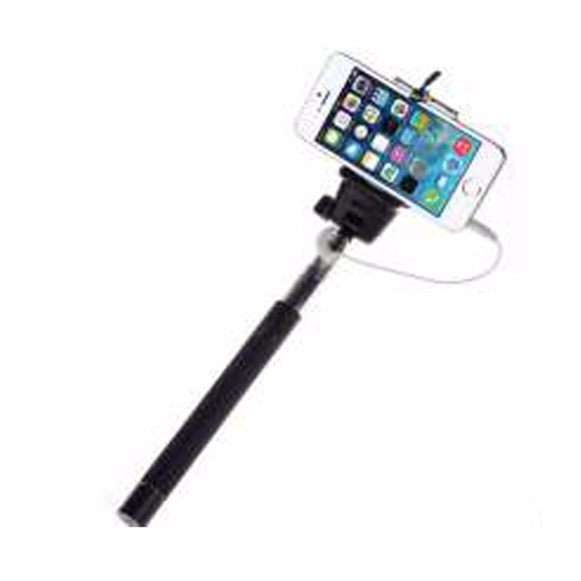 Mwalk Tongsis Monopod/ Selfie Stick Paket Combo Travel Free LampuSelfie + Lensa .
