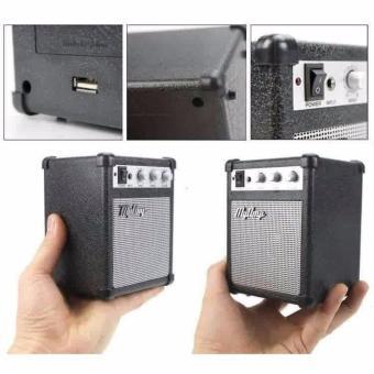 MyAmp Classic Amplifier Portable Speaker Black Hitam - PengerasSuara Mini Replika Amplifir Gitar Guitar Unik Klasik Vulome TrebleBass Audio Port 3.5mm 3.5 Mm HP Smartphone Ipod MP3 Player - 2