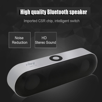 harga NBY18 Bluetooth Speaker HiFi Bluetooth Subwoofer FM Radio USB SDPortable Wireless Speaker for Iphone Xiaomi Samsung Sony - intl Lazada.co.id