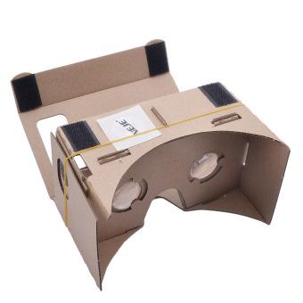 "NEJE SZ004-10 DIY Google Cardboard Virtual Reality 3D Glasses w/NFC for 4~5.0\"" Cellphones - Brown"