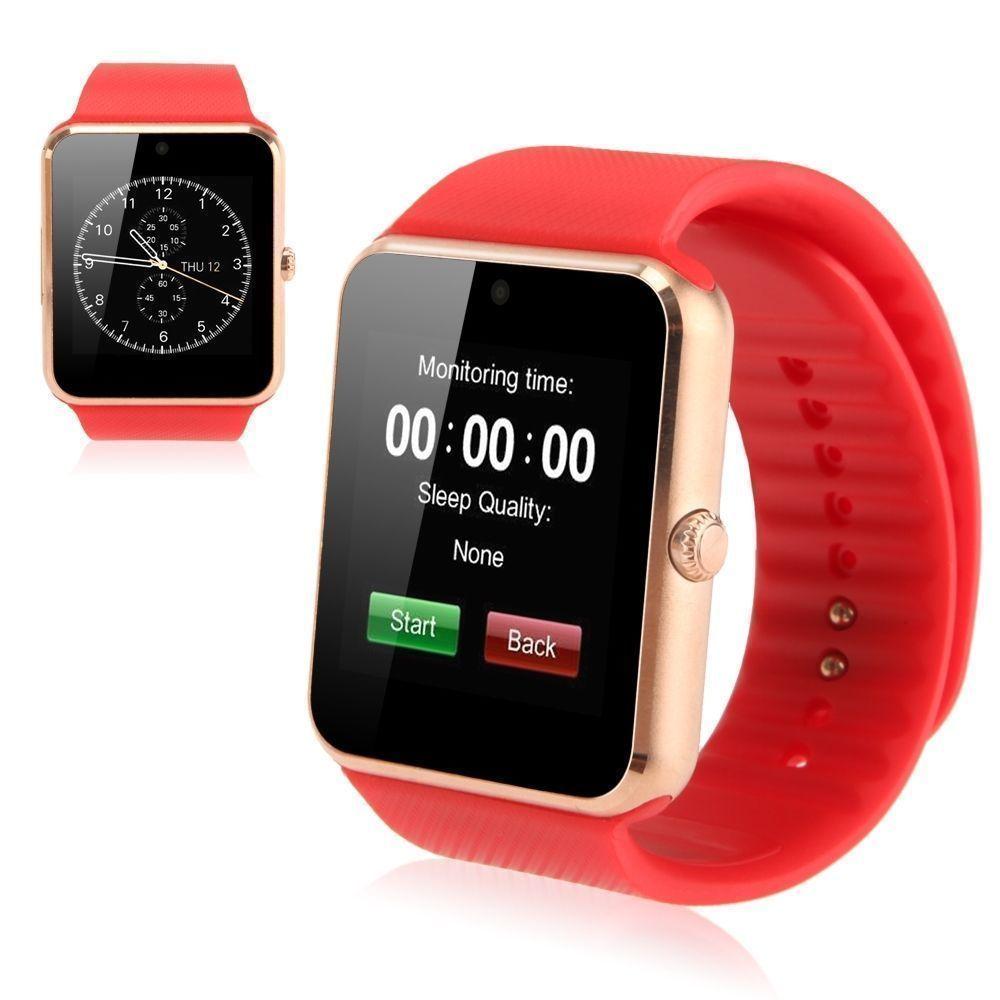 ... New 1,54 inci GT08 layar sentuh ponsel jam tangan Bluetooth untukAndroid IOS (merah ...