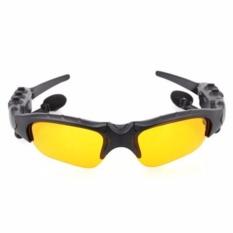 New Arrival Wireless Headphones Bluetooth 4.1 Sunglasses Stereo Music Sun Glasses Headset Handsfree Earphone(Yellow