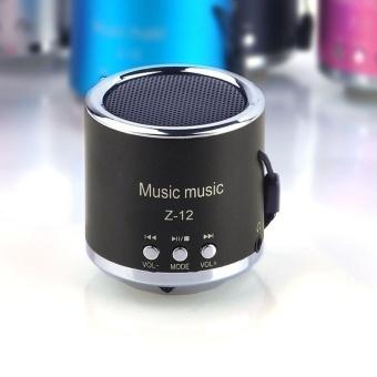 Baru Portable Mini Amplifier FM Radio Mikro Sd USB TF Kartu MP3 Player Speaker (Hitam