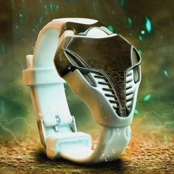 New Ular Kepala Berbentuk Jam Tangan Putih Pula (emas) - 4 .