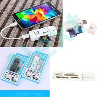 Next OTG Card Reader 4-in-1 Adapter Micro SD OTG / SD / MMC / MS /M2 Android Tablet PC Smartphone Multifungsi