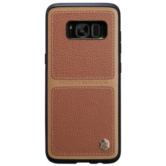 NILLKIN Burt Case Leather Coated PC TPU Hybrid Phone Cover for Samsung Galaxy S8 Plus G955