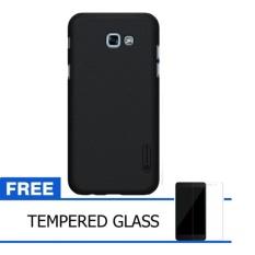 Nillkin For Samsung Galaxy A5 (2017) Super Frosted Shield Hard Case Original - Hitam + Gratis Tempered Glass