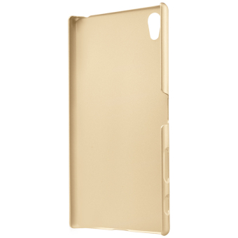Nillkin Frosted Hard Case Sony Xperia Z5 Premium - Gold + GratisScreen Protector .