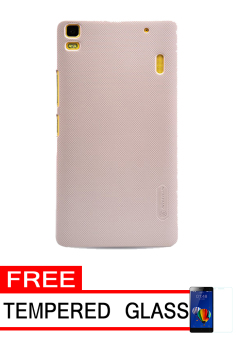 Nillkin Frosted Shield Hardcase for Lenovo A7000 - Gold + Free Tempered Glass