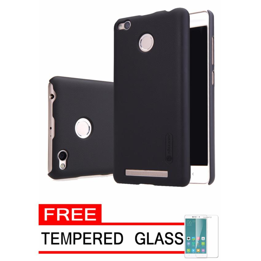 Nillkin Frosted Shield Hardcase for Xiaomi Redmi 3s Pro/Prime - Black + Free Tempered