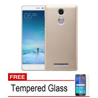 Nillkin Frosted Shield Hardcase for Xiaomi Redmi Note 3 Pro - Gold + Tempered Glass