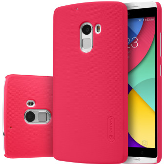 Nillkin Frosted Shield Matte Plastic Case Shell (with ScreenProtector Film) for Lenovo K4 Note & Vibe X3 Lite (Red) - intl