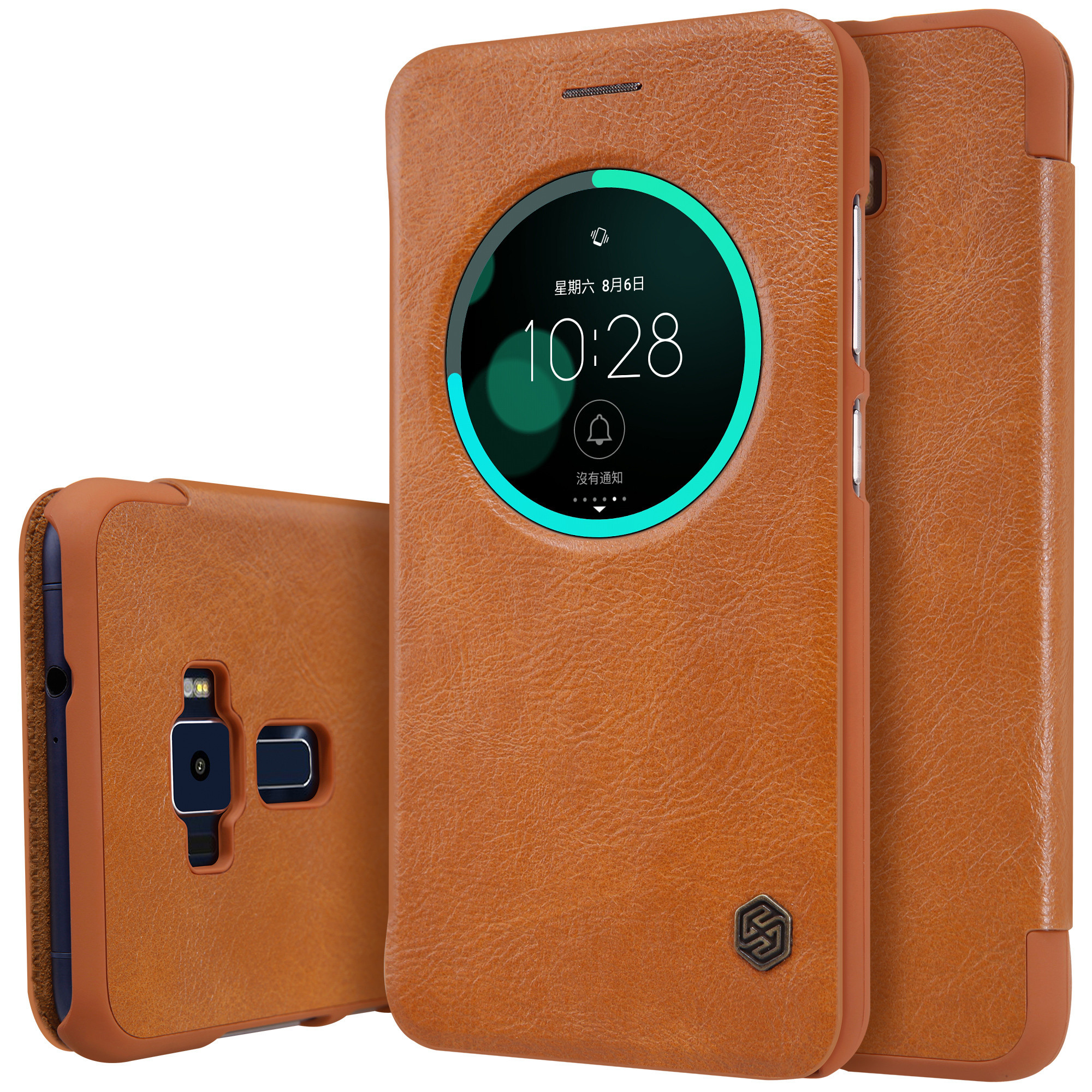 ... Nillkin Qin Sleep Flip Leather with Smart View Window Hard PlasticBack Cover Phone Case for Asus ...
