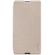 Nillkin Sparkle Leather Flipcase / Flipcover Sony Xperia M5 - GoldIDR129000