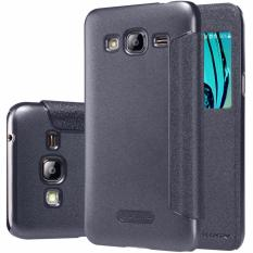 Nillkin Sparkle Series New Leather case for Samsung Galaxy J3 - Hitam