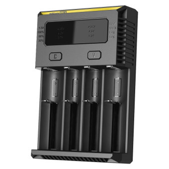 Nitecore Intellicharger Universal Battery Charger 4 Slot for Li-ion and NiMH - New i4 - Hitam
