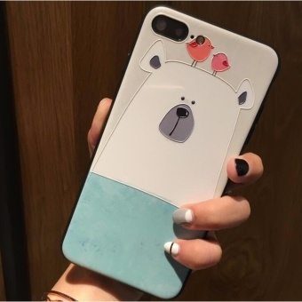 Novel fashion painted cell phone ear shell For Apple iphone 6 case3D Stereo Relief For iphone 6S 6 Case cover - intl