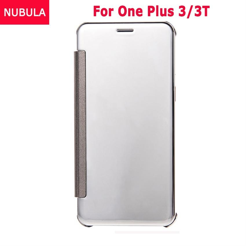 ... NUBULA New Fashion 360 Degree Luxury Mirror Clamshell Hard Shell Flip Wallet Case For One Plus ...