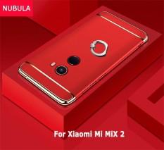 NUBULA untuk Xiaomi Mi Mix 2 3 In 1 Hard PC Pelindung Belakang Menutupi Case/Anti Jatuh Ponsel Cover /tahan Guncangan Ponsel Case dengan Logam Cincin-Intl