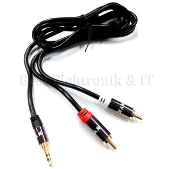 Nyk Kabel Jack Audio Stereo 3 5mm to RCA 2 Gold Plated 2 .