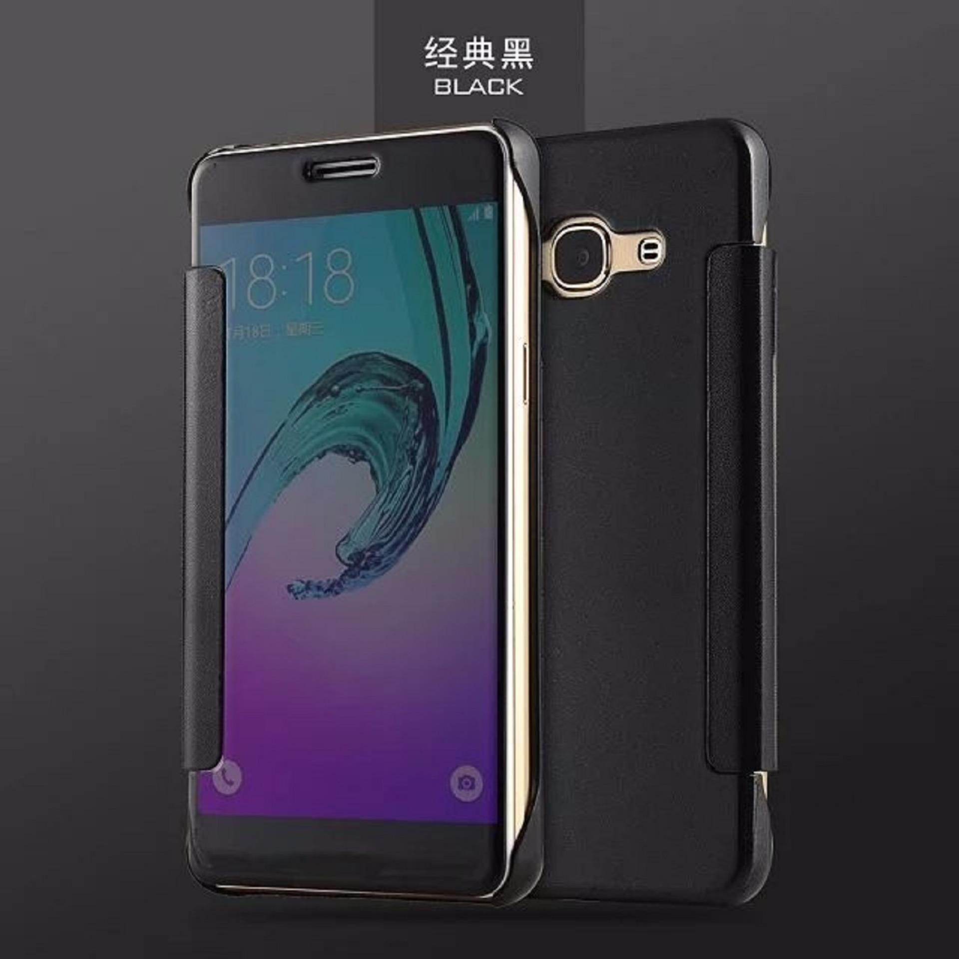 ... OEM Case Samsung Galaxy A3 2017 Flipcase Flip Mirror Cover S ViewTransparan Auto Lock Casing Hp