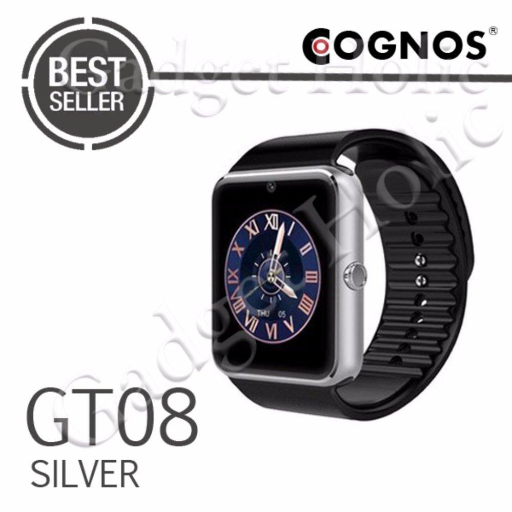 Onix Cognos - Jam Tangan Pria - Silver - Strap Rubber - Smartwatch .