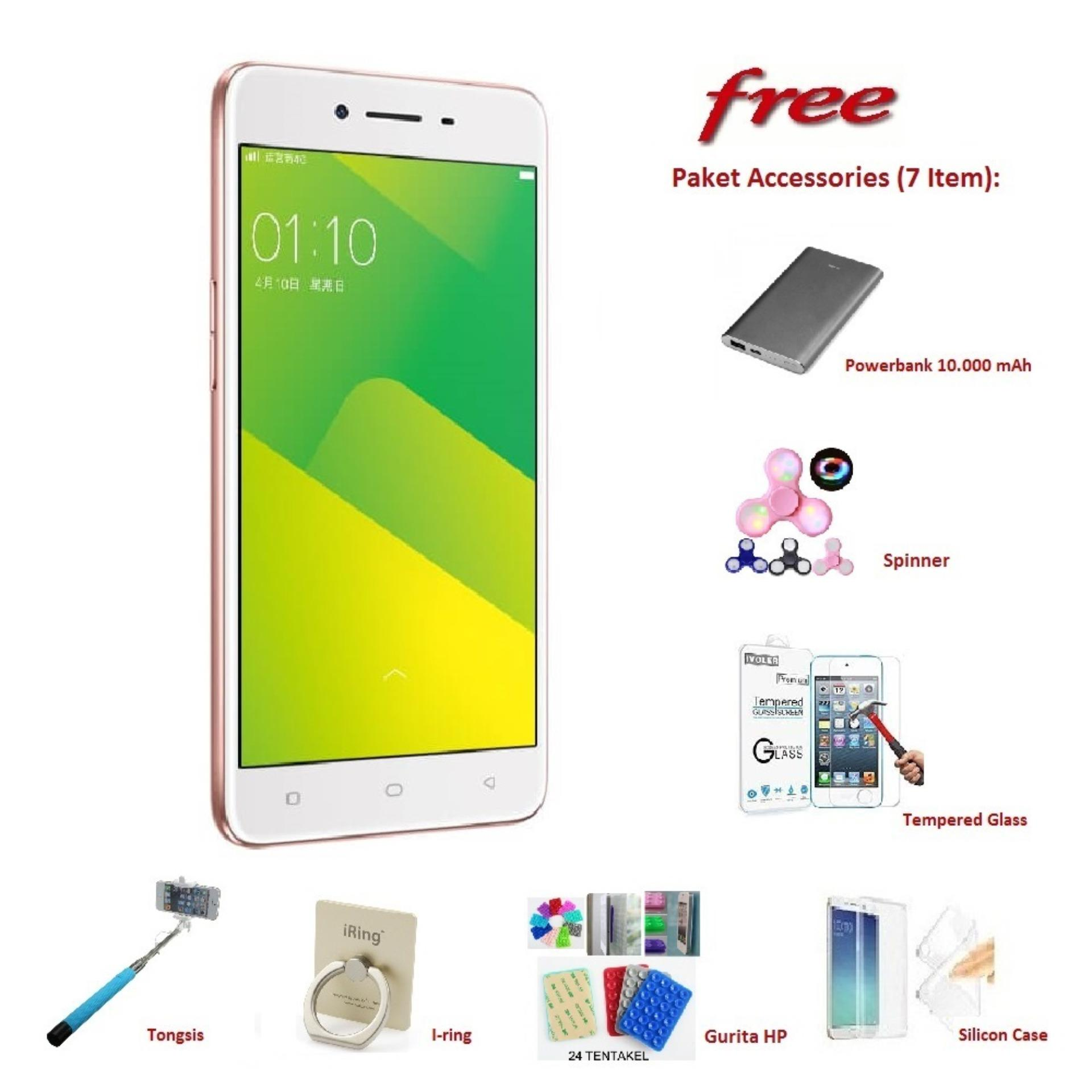 OPPO A37 [2 16GB] Free 7 Item Accessories