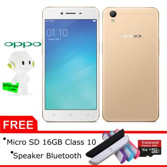 Oppo A37F 2/16GB (Gold), Free Micro SD 16GB class 10 + speaker Bluetooth