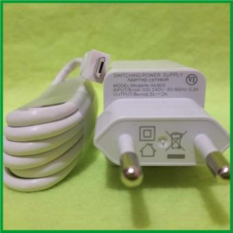 Oppo AK903 Travel Adapter Charger 2A Original With Cable Micro USB - Putih