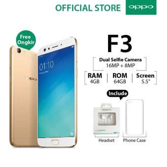 Oppo F3 4GB64GB Gold– Smartphone Dual Selfie Camera