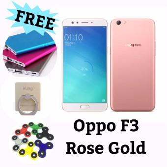 Oppo F3 Dual Selfie Camera - 64 GB ROM - Rose Gold Edition - Free 3 item