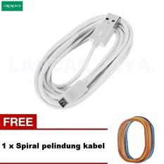 Oppo Kabel Data Micro USB for Oppo A37/A57/A39/A71/Neo 7/F3 Mirror 5 + Spiral Pelindung Kabel