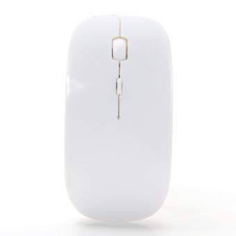 Detail Gambar Optik Mouse nirkabel 2, 4G penerima ultra tipis untuk komputer PC (putih) - International dan Variasi Modelnya