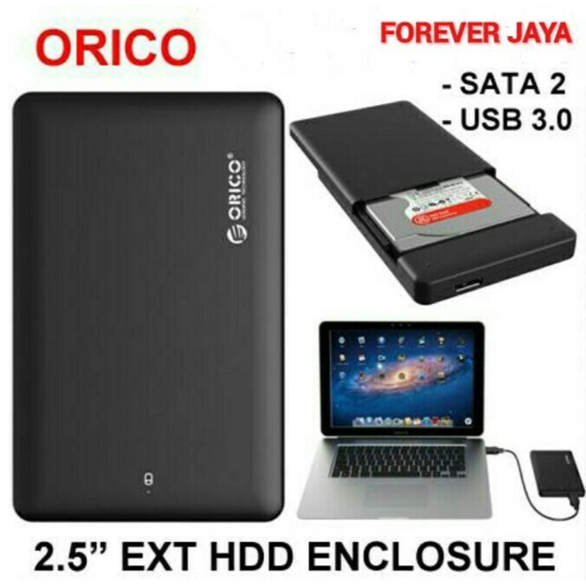 Orico - 2.5 Inch External HDD Enclosure USB 3.0 SATA 2 - Hitam .