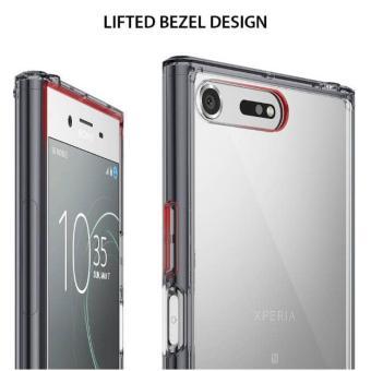 Original Casing Rearth Ringke Fusion Sony Xperia XZ Premium Smoke Black - 3 .