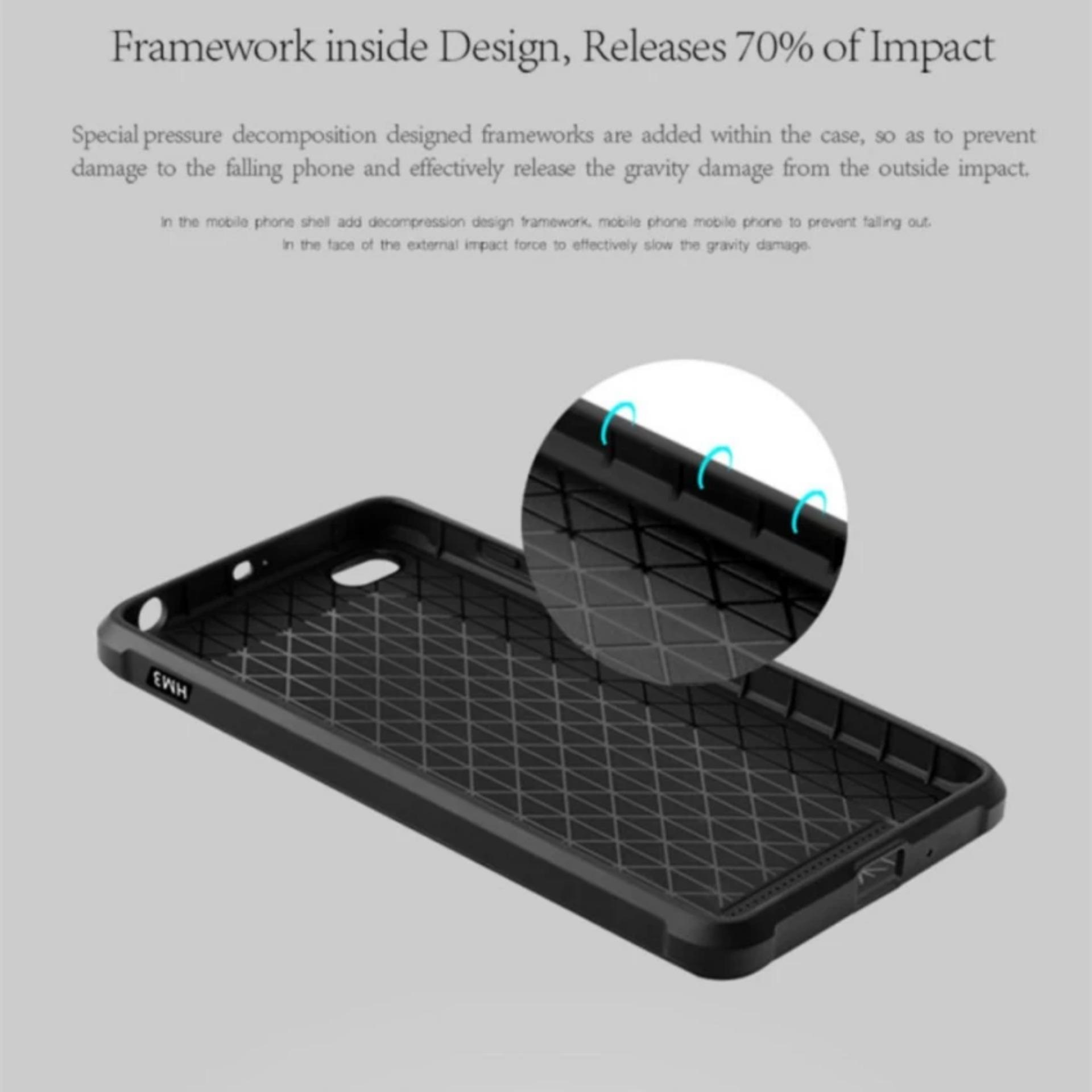 ... Original Dragon Shockproof Hybrid Case for Xiaomi Redmi 3 Hitam Gratis Rounded Tempered Glass
