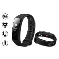 Original Huawei Honor Band 3 Swimmable 5ATM Smart Wristband - Black - intl