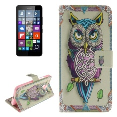 Owl Pattern Leather Case With Holder and Card Slots and Wallet For Microsoft Lumia 640 XL - intl