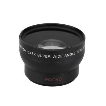 harga oxoqo 37mm 0.45x Fisheye Wide Angle Macro Lens for Canon Nikon SonyPentax (Black) Lazada.co.id