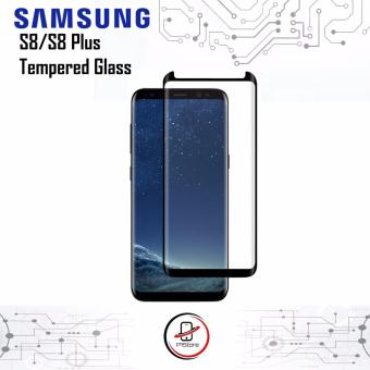 P1 Tempered Glass Samsung S8 3D Full Screen Curved 9H Anti Gores BLACK