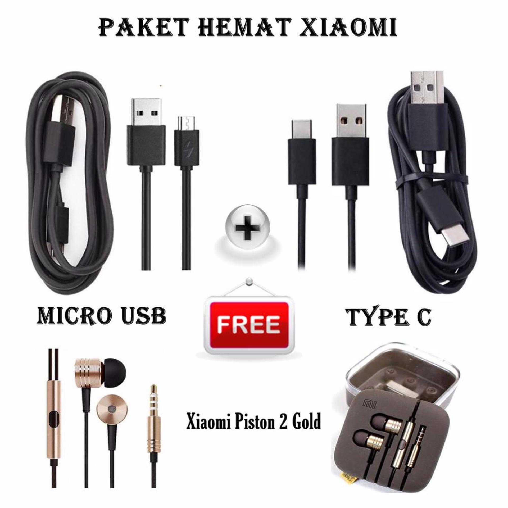 Belanja Terbaik Paket Hemat Original Xiaomi Kabel Data Micro Usb Type C Gratis