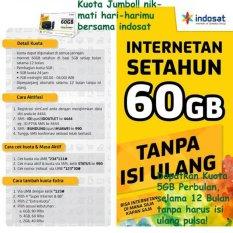 Paket internet Indosat 60GB (5GB/Bln) Selama 12 Bulan + SuperWIFI (BELUM AKTIF)