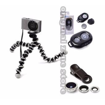 paket tripod gorilla family+fisheye+remote