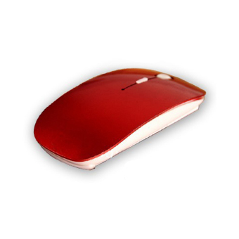 PAlight Optik 2, Nirkabel 4G Penerima Ultra-Tipis Mouse (Merah)