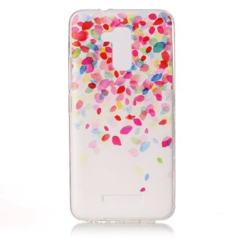 Pattern Printing TPU Cell Phone Case for Asus Zenfone 3 Max ZC520TL - Colorized Petals - intl