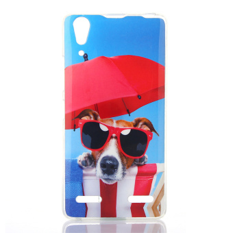 Patterned IMD TPU Back Protective Case for Lenovo A6000 - Vacation Dog