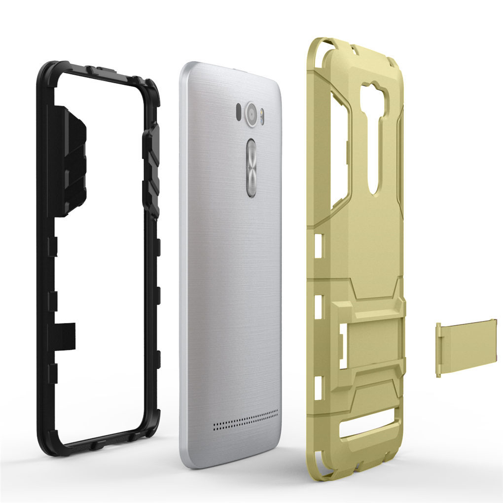 PC + silikon ganda layer Bumper Case dengan standarnya untuk AsusZenfone 2 Laser ZE601KL 15,