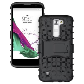 ... Gambar PC TPU Hybrid Case with Kickstand for LG K10 Black intl